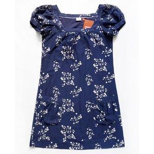Square Neck Floral Puff Sleeve Silk Blend Dress 2